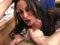 Italian Mila analfucked in stockings tube porn video