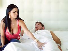 Fantastic woman with pierced big boobs takes a dick up her asshole