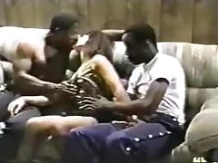 Curvy wife gets fucked by two ebony guys. tube porn video