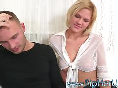 Tight jeans ripped open so he can destroy her ass tube porn video