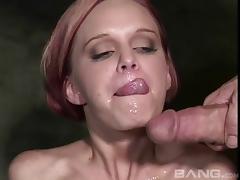 Kinky bitch enjoys sloppy blowjobs and swallowing semen