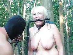 BDSM, Amateur, BDSM, Blowjob, German, Outdoor