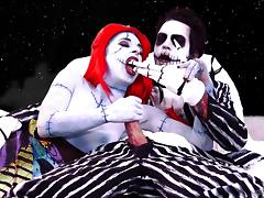 couple in nightmare before christmas cosplay fucks - Nightmare Before Christmas Porn