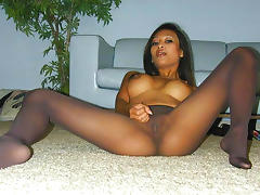Hot Asian Pantyhose Tease porn tube video