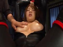 Filthy and cute Asian lady blows several cocks,teased with a vibrator and fucked deep