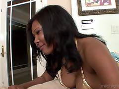 Ebony woman needs proof that white men can have big dicks too