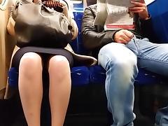 All, British, Skirt, Train, Upskirt, Voyeur