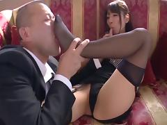Explosive compilation scenes of this kinky Japanese chick in bondage getting pricked