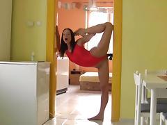 flexible brunette