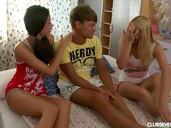 Thick dick shared by a couple of cute teenage girls porn tube video