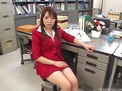 Office sex where the secretary blows her boss at her desk