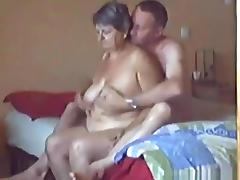 Fat gilf with big boobs and booty cowgirl, pussy eating and doggystyle sex on the bed.
