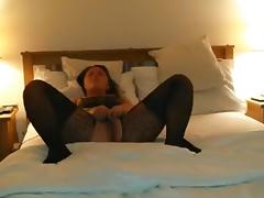 The wife warms up with a toy, gets fucked and swallows. tube porn video