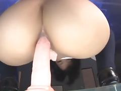 asian schoolgirl dance and anally ride dildo porn tube video