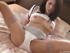 Lovely Asian MILF is a teacher who loves giving blowjobs porn tube video