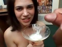 38 delicious girls gargle & swallow 287 cumshots