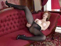 Busty British Redhead Indulges Erotism tube porn video