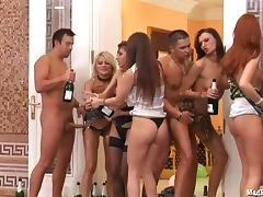 Welcome to this orgy party by the pool side with lots of ardent and sexy beauties