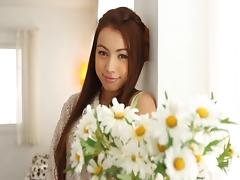 Affectionate Japanese dark haired slut gets oiled up and slammed in this compilation