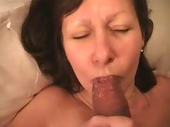 mature wife licks hubby's glans and spils nothing porn tube video