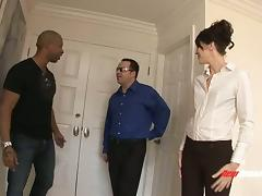 Big black cock makes a horny MILF squirt and moan loudly