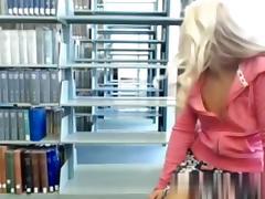 Masturbating in the library
