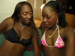 Ebony, Black, Ebony, Lesbian, Lick, Lingerie