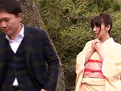 Elegant Japanese wife giving her hubby a wild blowjob before being screwed
