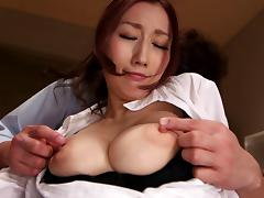 Japanese office slut in pantyhose likes hardcore treatment