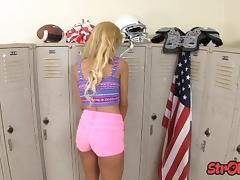 Teen Carmen C###te Locker Room Handjob