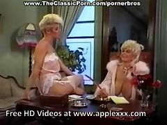 Cock worshipped by retro busty blonde