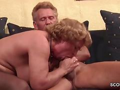 Grandma in Stockings hard fucked by Grandpa tube porn video