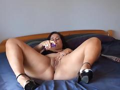 Playful BBW Jenny is much into baseball porn tube video