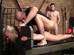 Bound, Anal, Assfucking, Banging, Blonde, Blowjob