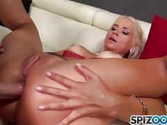 Horny blonde Sarah Vandella drilled deep in her anal pie tube porn video