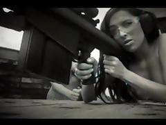 Naked Hotties Shooting with Shotguns!