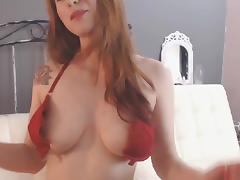 Beautiful Hot Webcam Girl Lustful Masturbates Her Pussy with a Toy