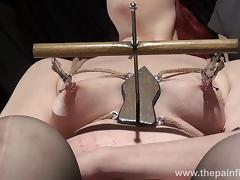 Extreme lesbian bdsm and hardcore lezdom tit tortures of chubby redhead ###slut tube porn video