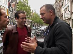In Amsterdam's red light district he gets to fuck a hooker tube porn video