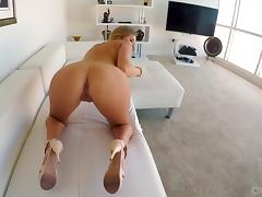 On the couch in front of a wall of windows he fucks a hottie porn tube video