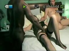 Mature couple with their black bull at home porn tube video