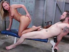 She knew how to play with hard penis