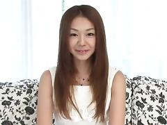 Sakura Hirota sucks cock while casting for porn