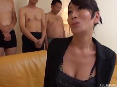 Japanese Mature, Asian, Big Tits, Blowjob, Bra, Close Up