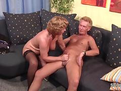 Grandma in Stockings hard fucked by Grandpa with Facial tube porn video