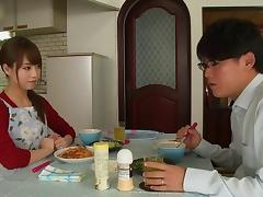 Japanese slut finally gets seduced by her dream man and gets fucked