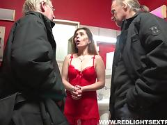 Old guy gets the heart rate up by banging a hot hooker