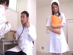 Big boobs nurse fondled and fucked by an eager doctor