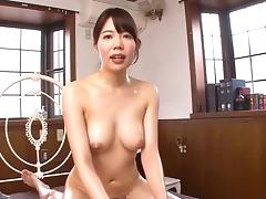 Asian bitch in red fishnet bodystockings gets drilled hardcore tube porn video