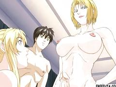 Blonde hentai shemale ass fucking porn tube video